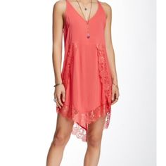 Nwt Free People dress No Trades please No flaws brand new bust 17 length 34 straps are adjustable please use offer button coral color Free People Dresses
