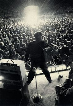 Elvis against the crowd