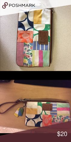Coach wristlet Needs cleaned. Coach wristlet a few years old Coach Bags Clutches & Wristlets