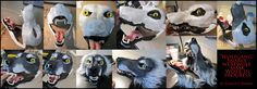Snarly Werewolf Mask Progress by sugarpoultry on deviantART