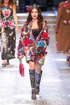 Madison Beer walks the Dolce and Gabbana show during Milan Fashion Week