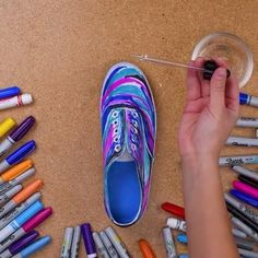 Jump into space with this DIY Galaxy shoes! (Try Teens Diy Projects)