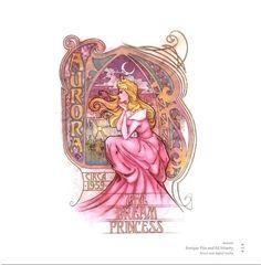 Art Nouveau Aurora    #disney #fanart #art #nouveau #princess #aurora #sleeping #beauty #dream