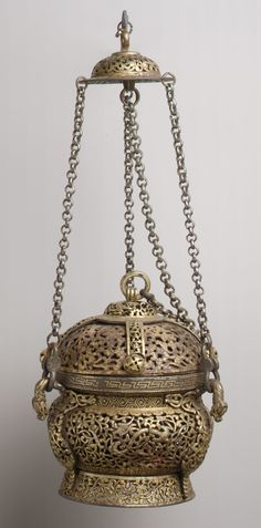 Ritual Censer 15th–16th century Tibet Iron inlaid with gold