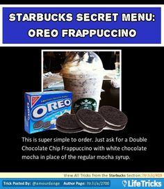 Starbucks - Starbucks Secret Menu: Oreo Frapuccino