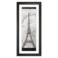 Have to have it. Paris Framed Wall Art - 19.37W x 43.37H in. - Black Frame $78.99