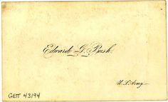 31. vintage business card