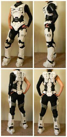 This would be awesome one year - How To Build Your Own HALO Outfit: KAT // Im not into HALO, but I could see this being useful for video game fans and Mecha genre cosplayers making EVA or Jaegar pilot suits. #camiseta #cosplayer 2#camisetagratis #cosplay #friki #regalos #ofertas #ropaoferta