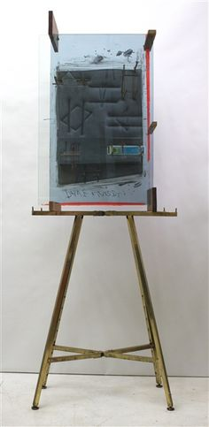 """Dave Hardy, """"Venus Paradise,"""" 2012, glass, polyurethane foam, cement, wood, tape, pencils, watercolor set, display stand, 91"""" x 33"""" x 20"""""""