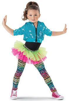 Extra Large Child Weissman Costumes Multicolor Print Leggings With Attached Tutu Hip Hop Costumes, Girls Dance Costumes, Halloween Costumes, Dance Picture Poses, Dance Pictures, Jazz Dance Poses, Baile Jazz, Hip Hop Dance Outfits, Tutu Ballet