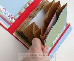 New Online Class - Paper Bag Mini Albums Scrapbooking Album, Paper Bag Scrapbook, Mini Scrapbook Albums, Scrapbook Photos, Paper Bag Books, Paper Bag Album, Smash Book Pages, Paper Sack, Art Education Projects