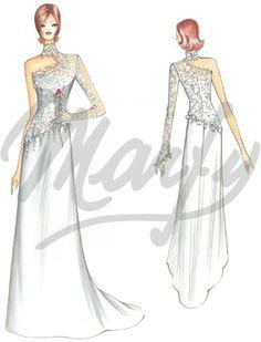Model S850 | Wedding Dress Sewing Pattern