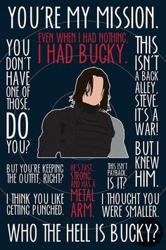 The Winter Soldier / Bucky Barnes poster by MacGuffin Designs Marvel Funny, Marvel Dc Comics, Marvel Heroes, Marvel Movies, Captain Marvel, Avengers Quotes, Marvel Quotes, The Avengers, Loki Quotes