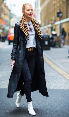 12 gucci belt outfits who what wear Womens Fashion For Work, Look Fashion, Winter Fashion, Girl Fashion, Fashion Outfits, Fashion Trends, Fashion Black, Net Fashion, Gucci Fashion