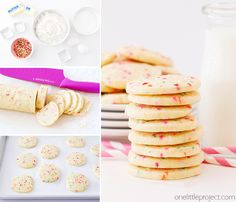These slice and bake sprinkle sugar cookies are so delicious and fun too! They're super easy to make ahead, for a delicious anytime treat!