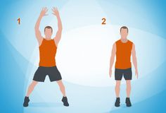 SEVEN MINUTE ROUTINE: jumping jacks, wall sits, push ups, ab crunches, step ups, squats, tricep dips, plank, high knees, lunges, push up (and rotation), and side plank.  30 seconds each, as many as you can!