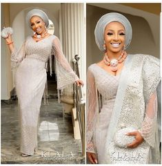 Gorgeous Bride in Blings👌🔥 Congratulations Fabric & Aso Oke by Makeup by Pic by… Nigerian Wedding Dresses Traditional, Traditional Wedding Attire, Traditional Dresses, African Lace Styles, African Lace Dresses, Latest African Fashion Dresses, African Wedding Attire, Desi Wedding Dresses, African Attire