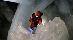Giant Crystal Cave in the Mexican Desert