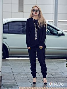 CL - don't know where to start. The glasses look great with the black outfit…