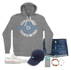 """""""@devsmendes thought of you while making this:)"""" by katieduffyy ❤ liked on Polyvore featuring J.Crew, Converse, Vineyard Vines and Jewel Rocks"""