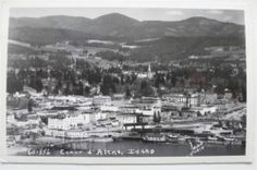 Postcard Idaho Coeur D'Alene Town View from Lake