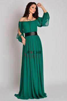 Green chiffon dress an ideal choice for bridesmaides Green Chiffon Dress, Bridesmaids, Shoulder Dress, Gowns, Dresses, Fashion, Green, Vestidos, Vestidos