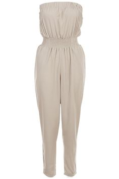 Shop Khaki Pleated Tube Top Jumpsuit at ROMWE, discover more fashion styles online. Tube Top Outfits, Cute Outfits, Jeans Pants, Shorts, Playsuit, Romwe, Fashion Outfits, My Style, Giveaways