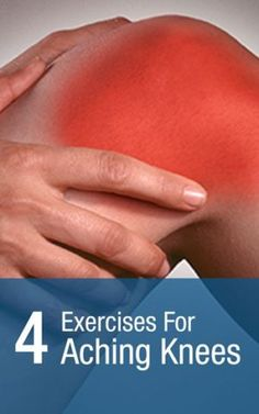 Remedies For Knee Joint Pain 4 knee exercises for aching knees to help knee pain Aching Knees, My Knees Ache, Knee Strengthening Exercises, Knee Stretches, Muscle Stretches, Aerobic Exercises, Belly Exercises, Chair Exercises, Fitness Exercises