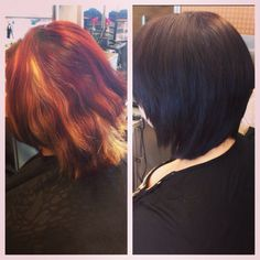 Before and after! Done by me