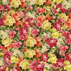 Printable Scrapbook Cutouts | The Artzee Blog: Victorian Rose 12 x 12 inch Printable