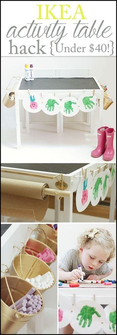 Ikea Latt Table turned into a craft/play station for $40 total! | Ikea Hack | Craft Table | Kids Table | Easy DIY www.styleyoursenses.com