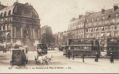 La place Saint-Michel vers 1905