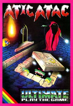 ZX Spectrum game Atic Atac. Ultimate Play The Game(*), 1983. (*) They became RARE of Nintendo and XBox fame.