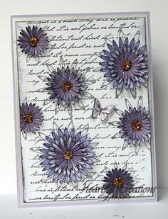 Heartfelt Creations |  Asters and Script Background