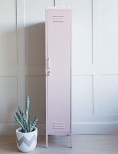 Mustard Made Lockers - The Skinny Tall Locker Blush Pink at Rose & Grey. Buy online now from Rose & Grey, eclectic home accessories and stylish furniture for vintage and modern living Tall Cabinet Storage, Locker Storage, Storage Baskets, Playroom Storage, Storage Units, Bathroom Storage, Modern Victorian Homes, Small Lockers, Locker Decorations