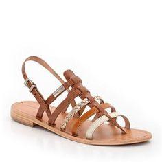 Sandales entre-doigts cuir