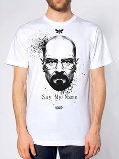 Playera unisex imprimida Heisenberg Say My name Breaking bad estados unidos, en los angeles imprimida con materiales no chimicos
