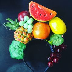 Copacabana/ samba girl/ Carmen Miranda headband/ fruit headdress/ DIY