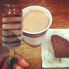Bella Gelateria - The Dark and Dangerous Vancouver Food, Chocolate Festival, Italian Cookies, Hot Chocolate, Sweets, Italy, Dark, Breakfast, Tableware