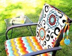 Faça em casa almofadas para cadeira e economize neste momento de crise financeira para redecorar a s