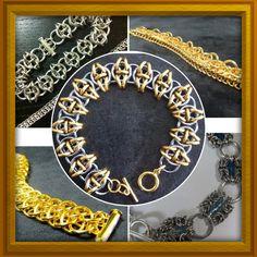 A few bracelets . Chainmaille, Jewelry Design, Tutorials, Create, Bracelets, Inspiration, Ideas, Charm Bracelets, Arm Bracelets