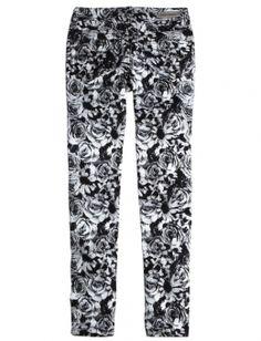 Floral Printed Super Skinny Jeans