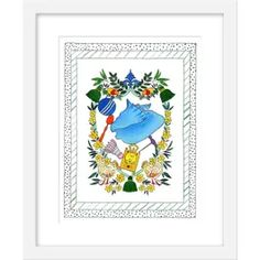 Rachel Rogers is a San Francisco-based artist known for playful and colorful designs. Her ink and water-color creations are both whimsical and eleg. Rachel Rogers, Watercolor Print, Needlework, Decorative Plates, Frame, Artist, Prints, Shopping, Vintage