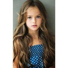 KRISTINA PIMENOVA BLUE DRESS LONG HAIR ❤ liked on Polyvore featuring girls
