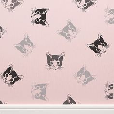 Cutting Edge Stencils - Kitten Allover Stencil For my pink room.-je