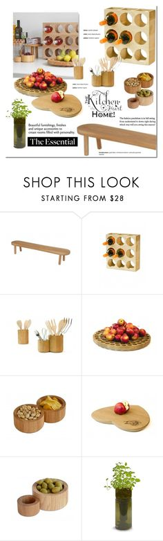 """Kitchen Essentials"" by viva-12 ❤ liked on Polyvore featuring interior, interiors, interior design, home, home decor, interior decorating, .wireworks, Potting Shed Creations, kitchen and Home"
