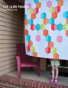 Such a pretty treatment of half hexies. By Patty Young for Generation Q.