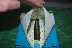 Cute zipper bag without having to sew through the zipper