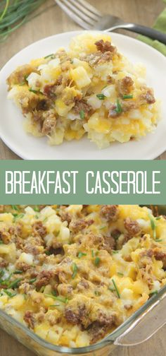 Breakfast Casserole - Prep the night before and just pop in the oven in the morning - Great for Christmas morning! Christmas Breakfast Casserole, Make Ahead Breakfast Casserole, Brunch Casserole, Breakfast For Dinner, Breakfast Dishes, Breakfast Recipes, Susan Recipe, Easy Brunch Recipes, Pork Dishes