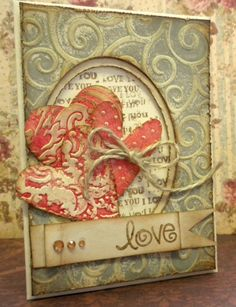 homemade valentine cards | Valentine's Card, homemade, embossing | Cool cards